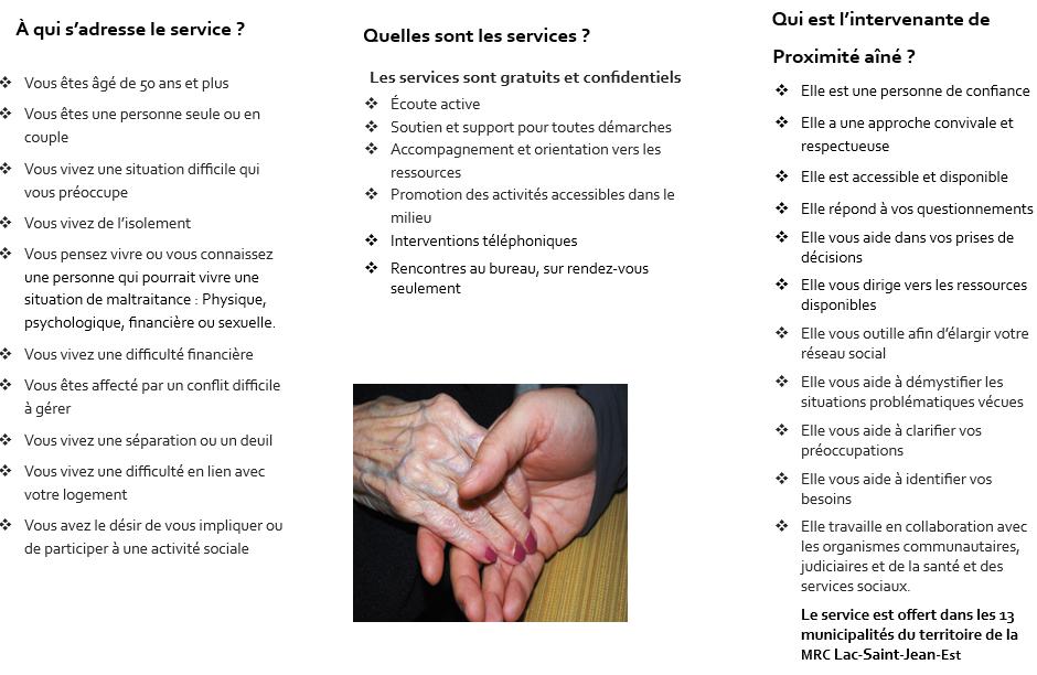 services offerts intervenante aînés